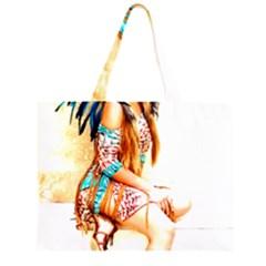Indian 18 Zipper Large Tote Bag