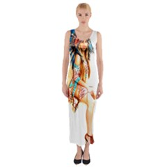 Indian 18 Fitted Maxi Dress