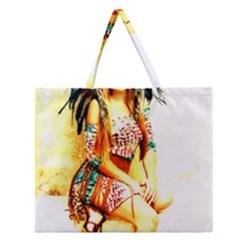 Indian 16 Zipper Large Tote Bag