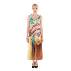 Indian 14 Full Print Maxi Dress
