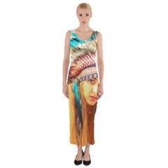 Indian 14 Fitted Maxi Dress