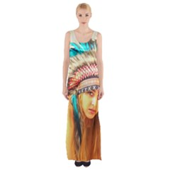 Indian 14 Maxi Thigh Split Dress