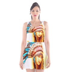 Indian 12 Scoop Neck Skater Dress