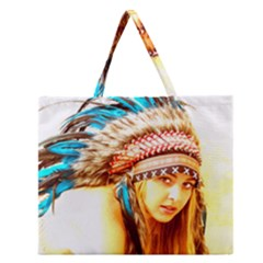 Indian 12 Zipper Large Tote Bag