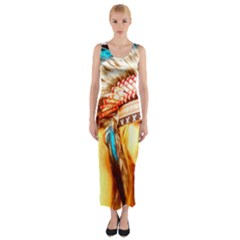 Indian 12 Fitted Maxi Dress