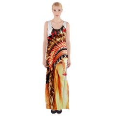 Indian 3 Maxi Thigh Split Dress