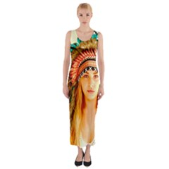 Indian 28 Fitted Maxi Dress