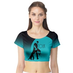 ZOUK BLUE MOON Short Sleeve Crop Top