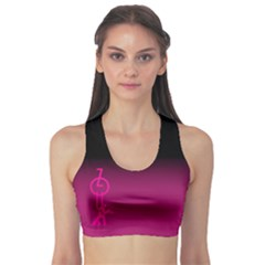 Zouk Pink/purple Sports Bra