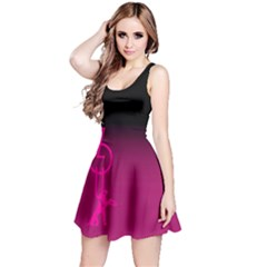ZOUK pink/purple Reversible Sleeveless Dresses