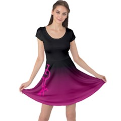 Zouk Pink/purple Cap Sleeve Dresses
