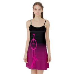 ZOUK pink/purple Satin Night Slip