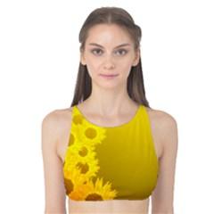 Sunflower Tank Bikini Top