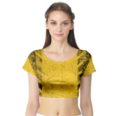 WEATHERING Short Sleeve Crop Top (Tight Fit)