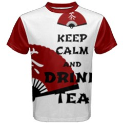 keep calm and drink tea - asia edition Men s Cotton Tees