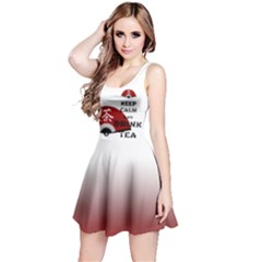 Keep Calm And Drink Tea   Asia Edition Reversible Sleeveless Dresses