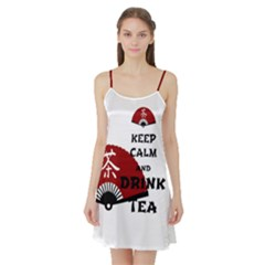keep calm and drink tea - asia edition Satin Night Slip