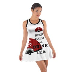 Keep Calm Drink Tea   Asia Edition Cotton Racerback Dress