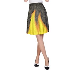 DARK FIRE A-Line Skirt