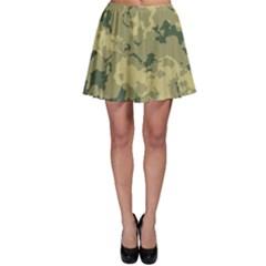 GreenCamouflage Skater Skirts