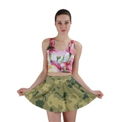 GreenCamouflage Mini Skirts