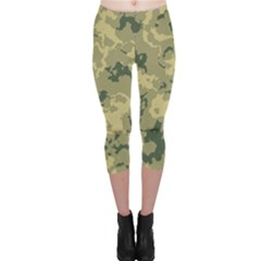 GreenCamouflage Capri Leggings