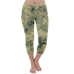 Greencamouflage Capri Winter Leggings