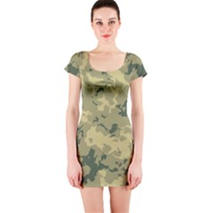 Greencamouflage Short Sleeve Bodycon Dresses