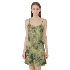 GreenCamouflage Satin Night Slip