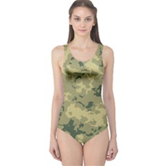 GreenCamouflage One Piece Swimsuit