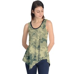 GreenCamouflage Sleeveless Tunic