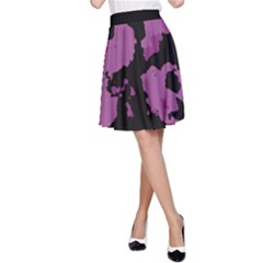 Pink Camouflage A Line Skirt