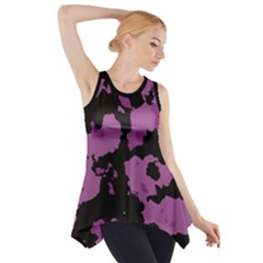 PINK CAMOUFLAGE Side Drop Tank Tunic