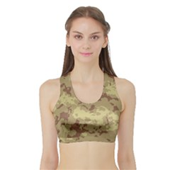 Deserttarn Women s Sports Bra With Border