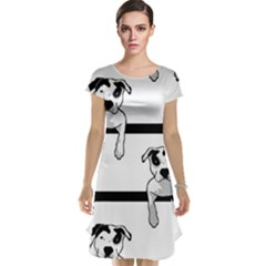 Pit Bull T Bone Graphic  Cap Sleeve Nightdress