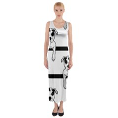 Pit Bull T-Bone Graphic  Fitted Maxi Dress