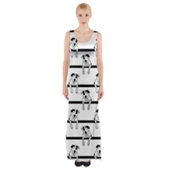 Pit Bull T Bone Graphic  Maxi Thigh Split Dress