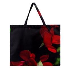 Roses 1 Zipper Large Tote Bag
