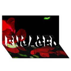 Roses 2 Engaged 3d Greeting Card (8x4)