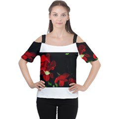 Roses 2 Women s Cutout Shoulder Tee