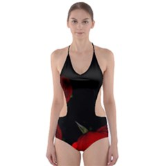 Roses 2 Cut-Out One Piece Swimsuit