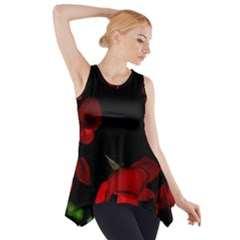 Roses 2 Side Drop Tank Tunic