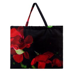 Roses 2 Zipper Large Tote Bag