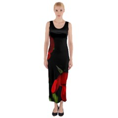 Roses 2 Fitted Maxi Dress