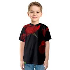Roses 3 Kid s Sport Mesh Tee