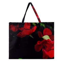 Roses 3 Zipper Large Tote Bag