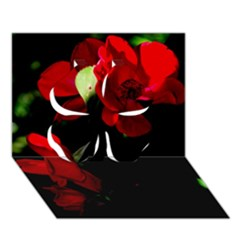 Roses 4 Clover 3d Greeting Card (7x5)