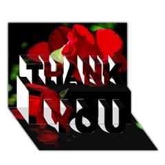 Roses 4 Thank You 3d Greeting Card (7x5)