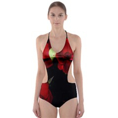 Roses 4 Cut-Out One Piece Swimsuit