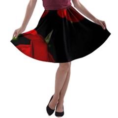 Roses 4 A-line Skater Skirt
